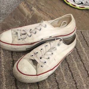 Authentic White Low Top Converse